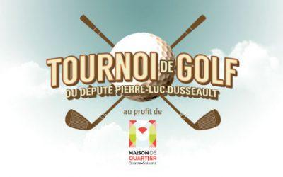 Tournoi de golf du député Pierre-Luc Dusseault
